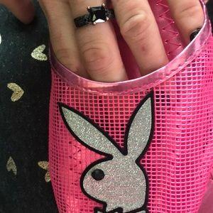 PLAYBOY Shoes - Pink playboy bunny rhinestone shoes! Hot!